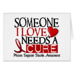 Stroke NEEDS A CURE 1 Greeting Card