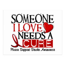 Stroke NEEDS A CURE 1 Postcard