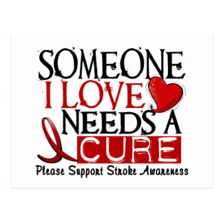 Stroke NEEDS A CURE 1 Post Cards