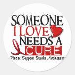 Stroke NEEDS A CURE 1 Sticker