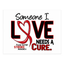 Stroke NEEDS A CURE 2 Postcard