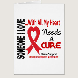 Stroke Needs A Cure 3 Card