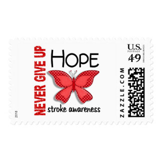Stroke Never Give Up Hope Butterfly 4.1 Postage Stamps