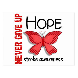 Stroke Never Give Up Hope Butterfly 4 1 Postcards