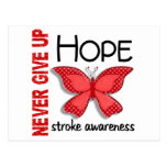 Stroke Never Give Up Hope Butterfly 4.1 Postcards