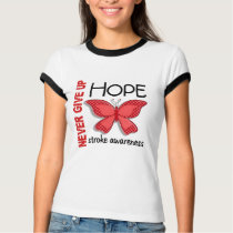 Stroke Never Give Up Hope Butterfly 4.1 T-Shirt