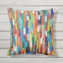 Stroke of Luck 16 x16 Outdoor Throw Pillow