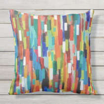 Stroke of Luck 20 x 20 Outdoor Throw Pillow