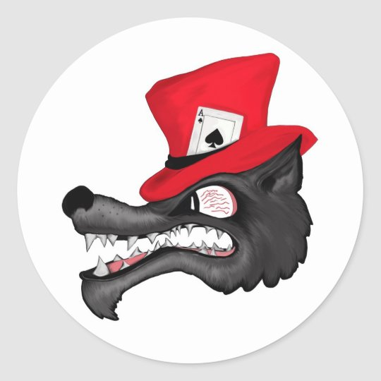 Stroke of Luck Lone Wolf Stickers