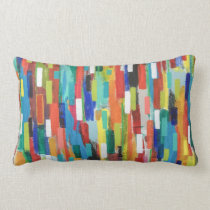 Stroke of Luck Poly Lumbar Throw Pillow
