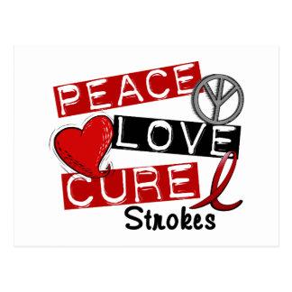 Stroke PEACE LOVE CURE 1 Post Cards