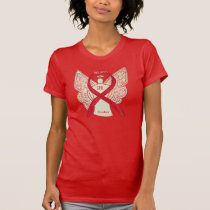 Stroke Red Awareness Ribbon Angel Custom Shirt