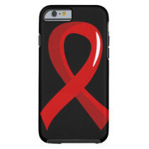 Stroke Red Ribbon 3 Tough iPhone 6 Case