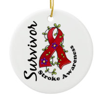 Stroke Survivor 15 Ceramic Ornament