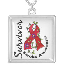 Stroke Survivor 15 Silver Plated Necklace