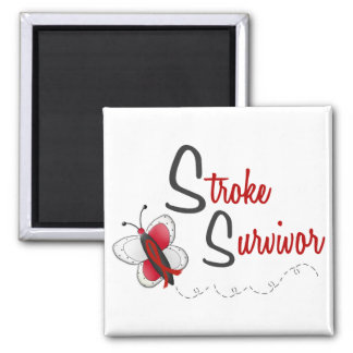 Stroke Survivor BUTTERFLY SERIES 2 2 Inch Square Magnet