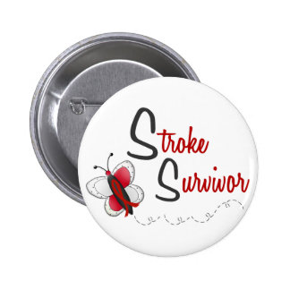 Stroke Survivor BUTTERFLY SERIES 2 Pinback Button