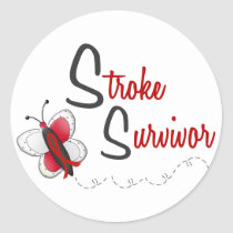 Stroke Survivor BUTTERFLY SERIES 2 Classic Round Sticker