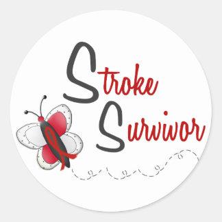 Stroke Survivor BUTTERFLY SERIES 2 Classic Round Sticker