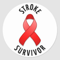 Stroke Survivor Round Sticker