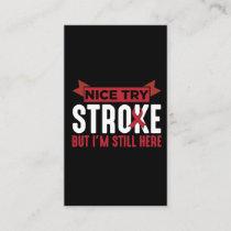 Stroke Survivor Supporter Stroke Awareness Business Card