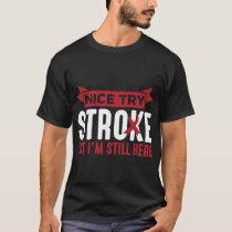 Stroke Survivor Supporter Stroke Awareness T-Shirt