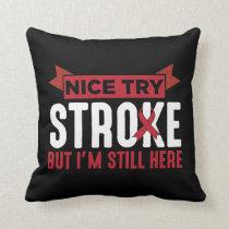 Stroke Survivor Supporter Stroke Awareness Throw Pillow