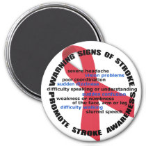 Stroke Warning Signs & Symptoms Magnet