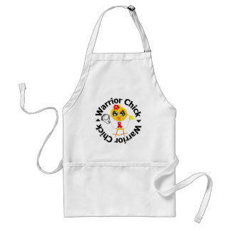 Stroke Warrior Chick Adult Apron
