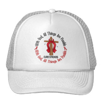 Stroke WITH GOD CROSS 1 Mesh Hats