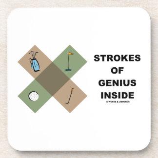 Strokes Of Genius Inside Golf Cross Pattern Coaster