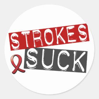 Strokes Suck Classic Round Sticker