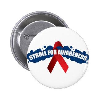 stroll 4 awareness logo copy pinback buttons