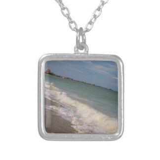 Stroll Along St. Pete Beach Square Pendant Necklace