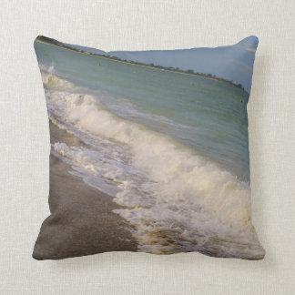 Stroll along St Pete Beach Throw Pillow