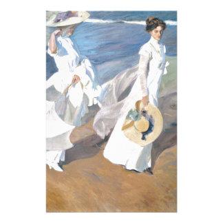 Stroll by the beach - Sorolla - 1909 Stationery