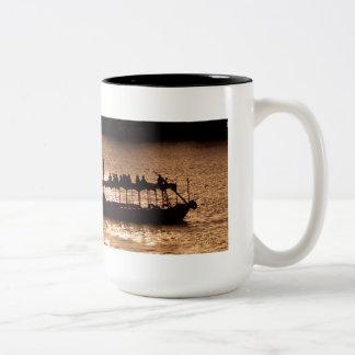 Stroll by the Nile Two-Tone Coffee Mug