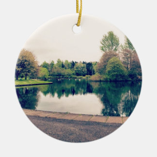 Stroll in the park ceramic ornament