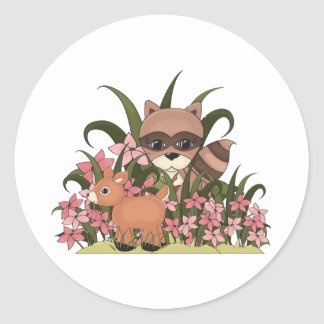 Stroll in the park classic round sticker