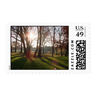 Stroll in the Park Postage Stamps