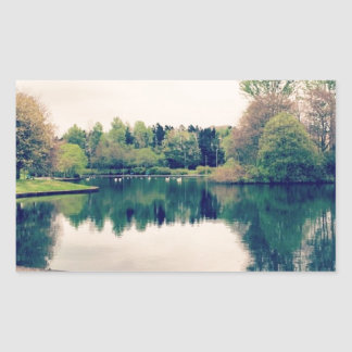Stroll in the park rectangular sticker