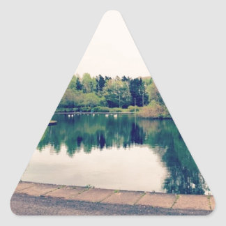 Stroll in the park triangle sticker