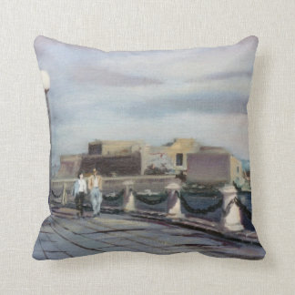 Stroll of the Parrote (To Corunna) Throw Pillow