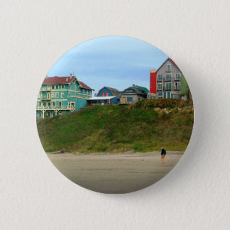 Stroll on the Beach Pinback Button