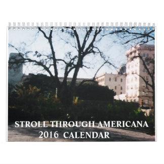 Stroll through Americana Calendar