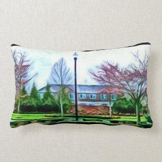 Stroll through the park lumbar pillow