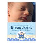 Stroller Baby Boy Custom Photo Birth Card Announcements