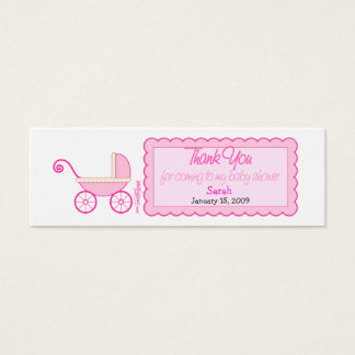 Stroller Baby Shower Favor Tag