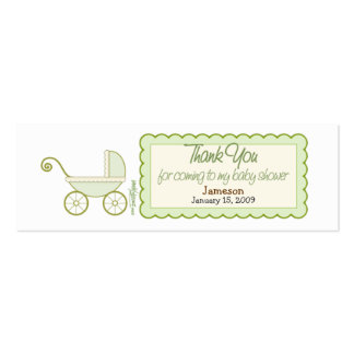 Stroller Baby Shower Favor Tag Mini Business Card