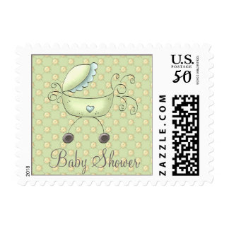 Stroller Baby Shower Invitation Stamp